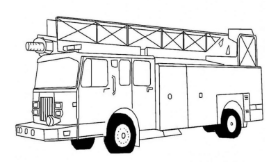 Printable Fire Truck Coloring Pages coloring page & book for kids.
