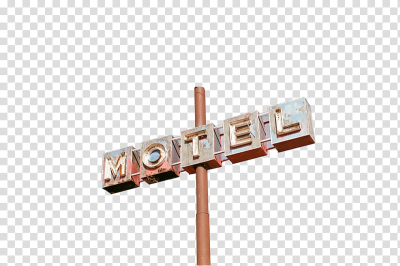 motel sign post transparent background PNG clipart | HiClipart