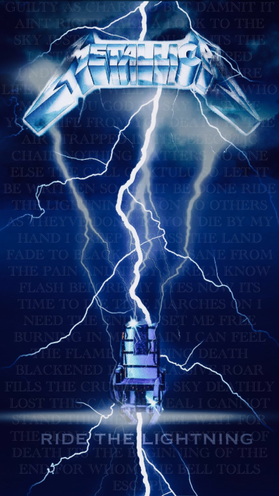 Ride the Lightning Metallica fan art by John Moran | Album Art ...