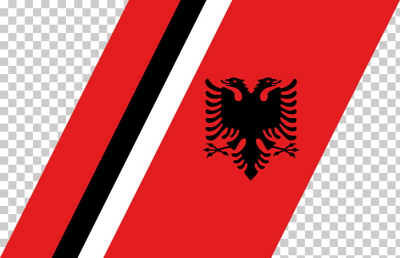 Flag of Albania Albanian language National flag, Flag PNG clipart ...
