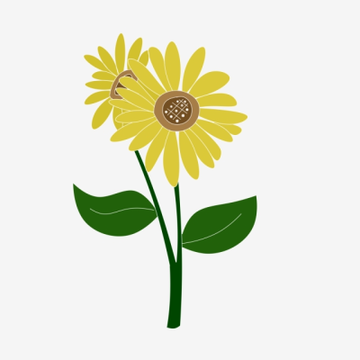Fresh Simple Cartoon Cute Plant Sunflower, Lovely, Simple, Fresh ...