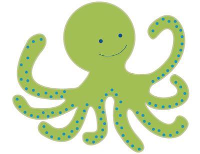 Cute Octopus Transparent Background