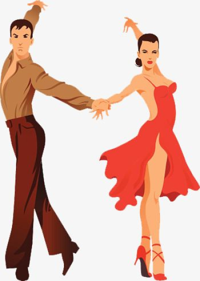 Latin Dance Teaching Hand Painted, Dance Clipart, Dance, Latin ...