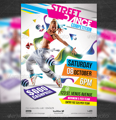 23+ Dance Flyer Designs & Templates - PSD, AI | Free & Premium ...