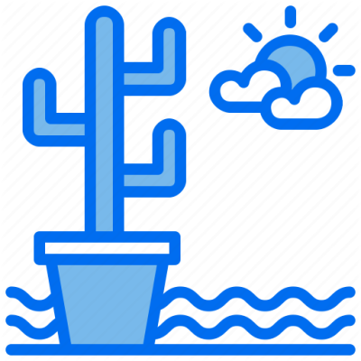 Cactus, desert, ecology, plant, water icon