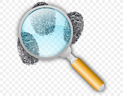 Fingerprint Forensic Science Magnifying Glass Footprint Clip Art ...