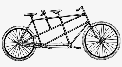 The Tandem - Tandem Bicycle Clip Art - Free Transparent PNG ...