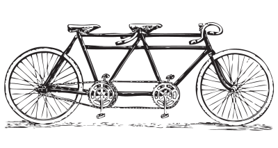 Tandem Bicycle - Clip Art Library
