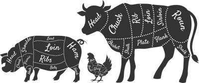 Meat Department Beef Cuts Label - Clip Art Library