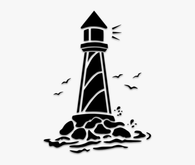 Light House Art & Islamic Graphics - Lighthouse Stencil, HD Png ...