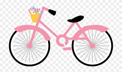 Paris Clipart, Bike, Bicycle Art, Paris Party, - Pink Bicycle ...