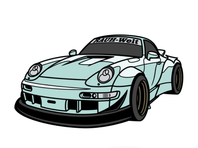 Porsche RWB (Hawaii) | Graphic design art, Porsche, Graphic art
