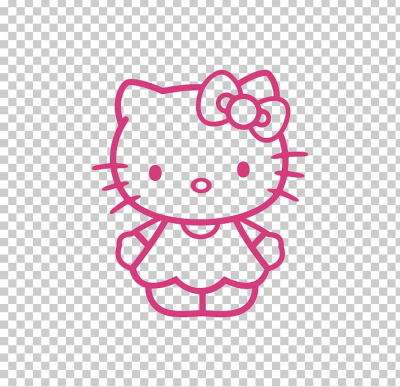 Hello Kitty Black And White PNG, Clipart, Area, Art, Black And ...