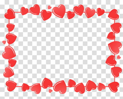 Love, red hearts frame transparent background PNG clipart | HiClipart