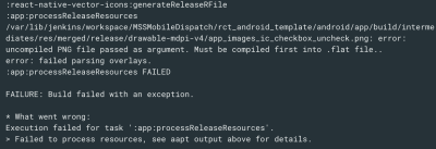React native build release error: uncompiled PNG file passed as ...