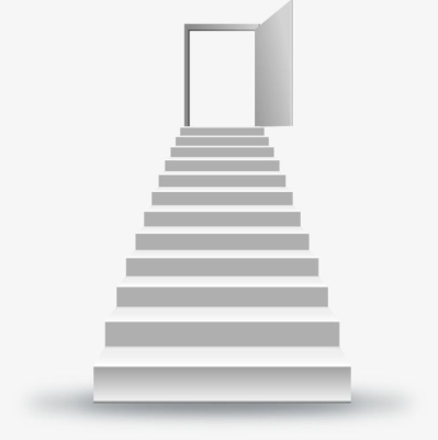 Stairs Leading To The Door To Success, Access, Door To Success ...