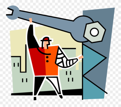 Vector Illustration Of Building Construction Site Steelworker ...