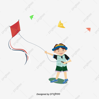 Little Boy Flying Kite String, Summer, Boy, Color PNG Transparent ...