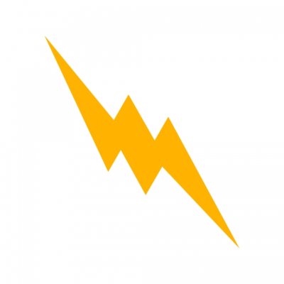 Lightning Button Vector Icon, Energy Icon, Lightning Icon, Bolt ...