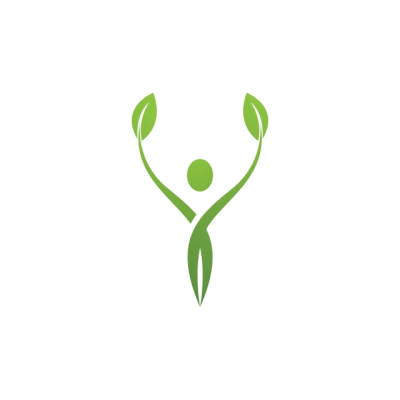 Human Character Sign Health Care Logo Nature Logo Sign Green ...