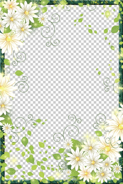 Border Flowers Frame Digital Photo Frame PNG, Clipart, Border ...
