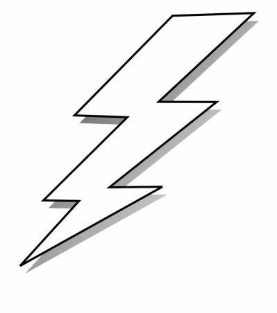Black And White Lightning Bolt Svg Clip Arts 546 X - Black And ...
