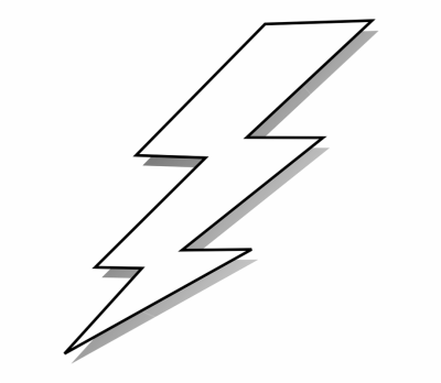 Lightning Bolt Strike Lighting Energy Power - Black And White ...