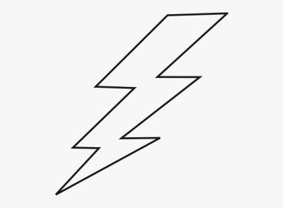 Black Lightning Clipart - Lightning Bolt Drawing Easy ...