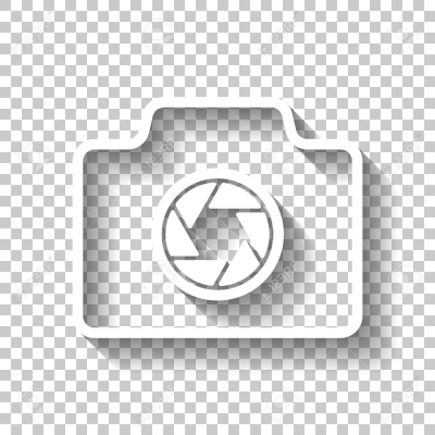 Photo Camera, Linear Symbol With Thin Outline, Simple Icon. White ...