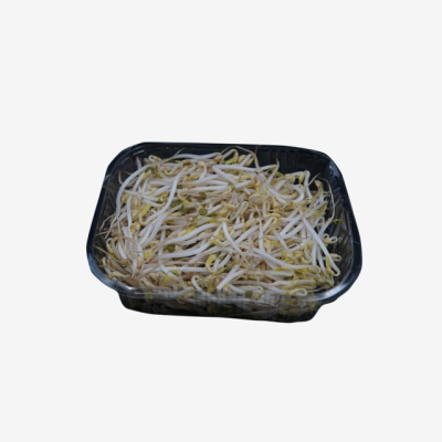 A Plate Of Pure Green Delicious Green Bean Sprouts, Green Food ...