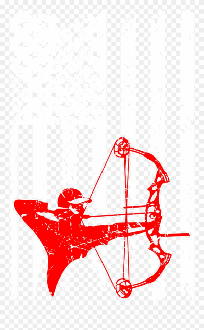 Bow Hunting Outdoors Usa Flag Pride Tshirt - Clip Art Archery ...