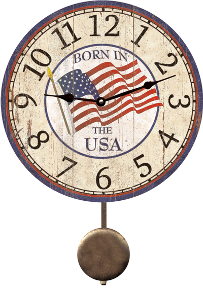 USA Clock-Born In The USA Clock