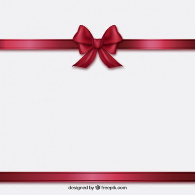 Burgundy ribbon and bow | Free Vector