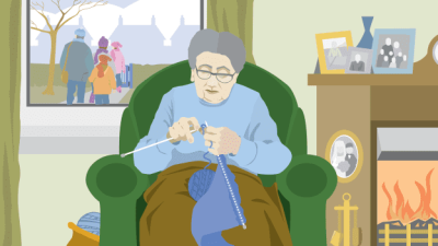 Daily Homework: For my Grandmother Knitting by Liz Lochhead