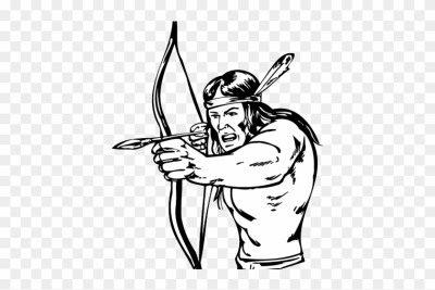 Native American Clipart Arrow - Bow And Arrow Warrior Drawing ...