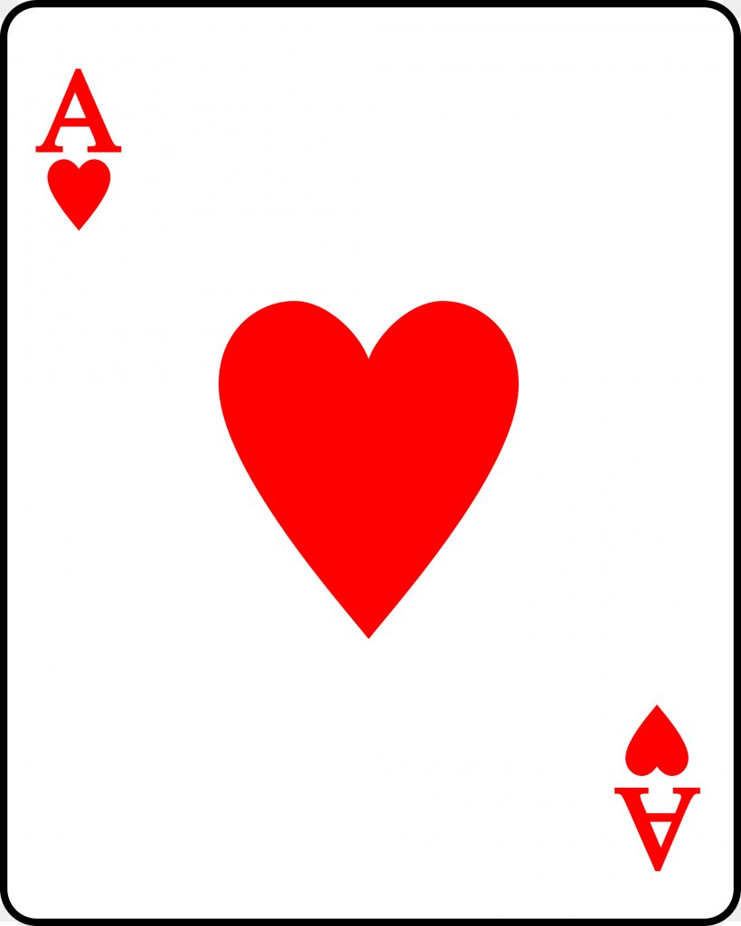 Playing Card Suit Ace Of Hearts, PNG, 2000x2500px, Playing Card ...