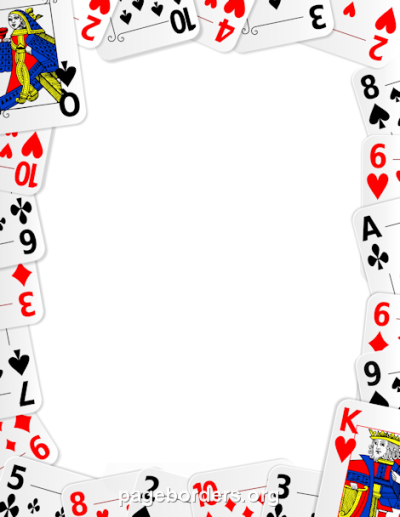 Printable playing card border. Use the border in Microsoft Word or ...