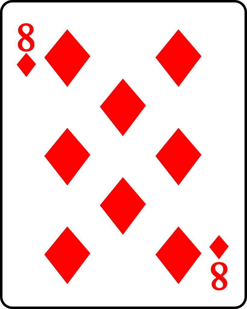 File:Playing card diamond 8.svg - Wikimedia Commons