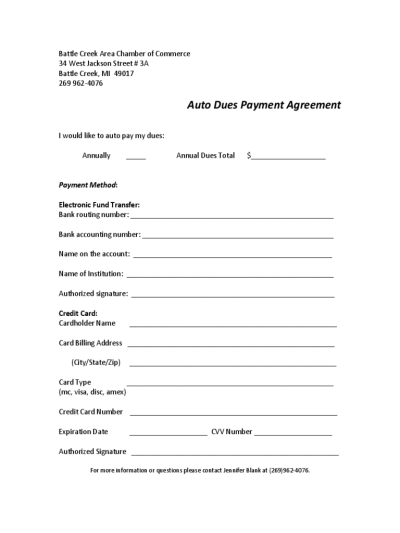 Car Payment Agreement Form - 3 Free Templates in PDF, Word, Excel ...