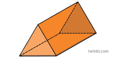 Triangular Prism Interior Angles 3D Shapes Maths KS1 2 Illustration