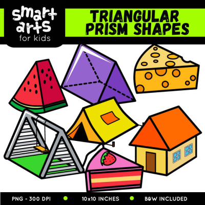 Triangular Prism Shapes Clip Art – Educational Clip Arts