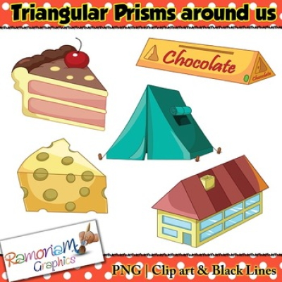 Shapes 3D Triangular Prism Clip art by RamonaM Graphics | TpT