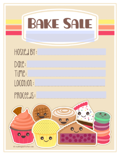 Bake Sale Printable Labels Set | Worldlabel Blog Good summer ...