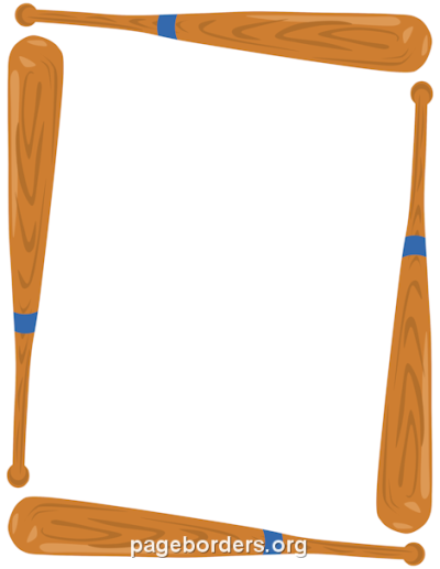 Printable baseball bat border. Use the border in Microsoft Word or ...