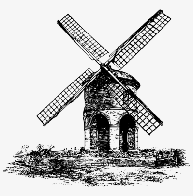 Windmill Watermill Wind Turbine Computer Icons - Windmill Drawing ...