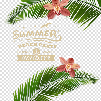 Summer beach party tropical paradise holidays, Beach Poster ...