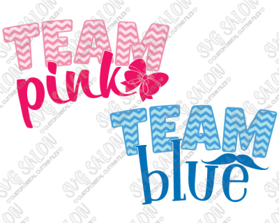 Team Pink / Team Blue Gender Reveal Custom DIY Iron On Vinyl Shirt ...