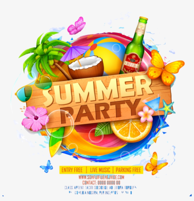 Summer Party Png Image Download - High Resolution Flyer Background ...