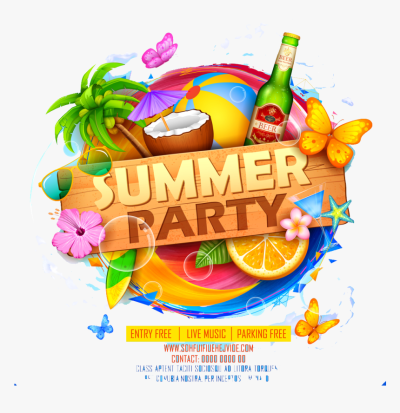 Summer Party Png Image Download - Summer Party Logo Png ...