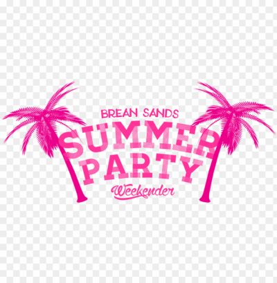brean sands summer party weekender line up - palm tree transparent ...
